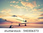 jet plane   retro vintage... | Shutterstock . vector #540306373