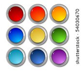 colored buttons | Shutterstock .eps vector #54030670