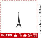 eiffel tower icon flat. simple... | Shutterstock .eps vector #540308968