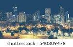 retro toned denver downtown...   Shutterstock . vector #540309478