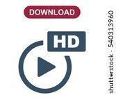 movie icon vector flat design...   Shutterstock .eps vector #540313960