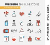 wedding party thin line vector... | Shutterstock .eps vector #540318058