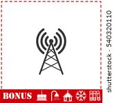 antenna icon flat. simple... | Shutterstock .eps vector #540320110