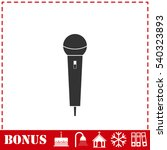 microphone icon flat. simple...