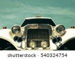 white wedding limousine... | Shutterstock . vector #540324754