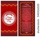 happy valentines day. brochure  ...   Shutterstock .eps vector #540326320