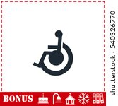 disabled icon flat. simple... | Shutterstock .eps vector #540326770