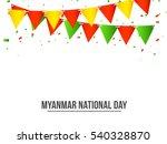 myanmar independence day...   Shutterstock .eps vector #540328870