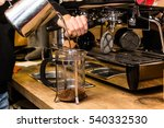 barista making non traditional... | Shutterstock . vector #540332530