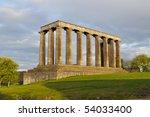 national monument  edinburgh ... | Shutterstock . vector #54033400