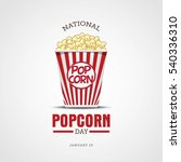national popcorn day vector... | Shutterstock .eps vector #540336310