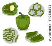 abstract vector illustration... | Shutterstock .eps vector #540336538