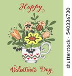hand drawn greeting card for... | Shutterstock .eps vector #540336730
