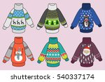cute colorful christmas... | Shutterstock .eps vector #540337174