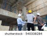engineer and architect working... | Shutterstock . vector #540338284