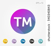 colored icon of trademark... | Shutterstock .eps vector #540340843