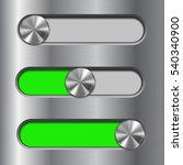 metal interface slider. green...