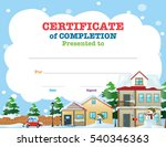 certificate template with... | Shutterstock .eps vector #540346363