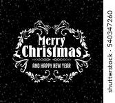 retro simple art card wish you... | Shutterstock . vector #540347260