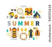 summer round vector... | Shutterstock .eps vector #540352618