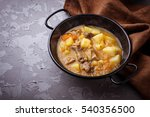 stewed beef with potatoes ... | Shutterstock . vector #540356500