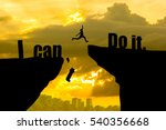 man jumping on i can do it or i ... | Shutterstock . vector #540356668