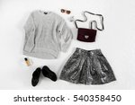 set of women youthful clothes ... | Shutterstock . vector #540358450
