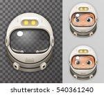 cosmonaut helmet realistic 3d... | Shutterstock .eps vector #540361240