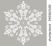 Elegant Vector White Ornament...
