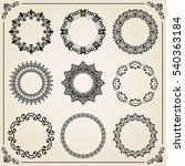 vintage set of different... | Shutterstock .eps vector #540363184