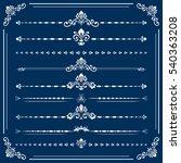 vintage set of horizontal white ... | Shutterstock .eps vector #540363208