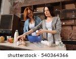 positive delighted women... | Shutterstock . vector #540364366