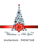 christmas tree from beautiful... | Shutterstock .eps vector #540367168