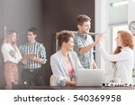 people working in positive... | Shutterstock . vector #540369958