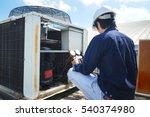 technician is checking air... | Shutterstock . vector #540374980