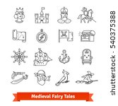 medieval fairy tales. thin line ...