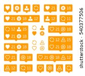 social network icons pack on... | Shutterstock .eps vector #540377506