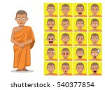 religion buddhist monk cartoon... | Shutterstock .eps vector #540377854