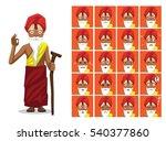 religion hinduism sadhu cartoon ... | Shutterstock .eps vector #540377860