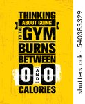 thinking about going to the gym ... | Shutterstock .eps vector #540383329