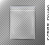 transparent plastic bag.... | Shutterstock .eps vector #540386608
