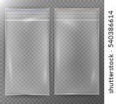 transparent plastic bag. set...   Shutterstock .eps vector #540386614