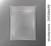 transparent plastic bag.... | Shutterstock .eps vector #540386698