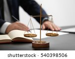 Scales Of Justice On Table ...