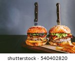 tasty and delicious juicy... | Shutterstock . vector #540402820