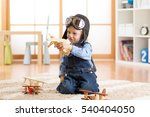 happy child boy plays with toys ... | Shutterstock . vector #540404050