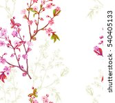 vector floral seamless pattern... | Shutterstock .eps vector #540405133
