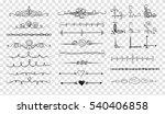 doodle dividers. vector... | Shutterstock .eps vector #540406858