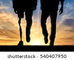 leg man with prosthesis and... | Shutterstock . vector #540407950