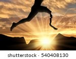 disabled athlete with... | Shutterstock . vector #540408130